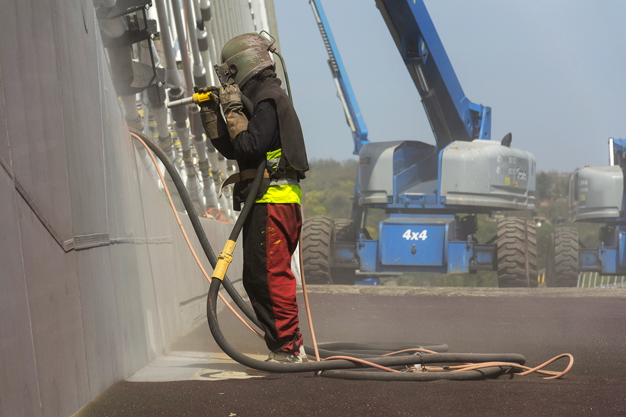 soda blasting bridge